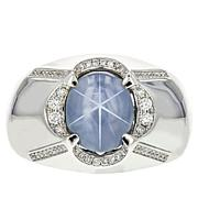 Gold & Diamond Source® 14K Star Sapphire Men's Ring
