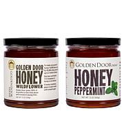 Golden Door 2-pack of Raw Peppermint & Wildflower Honey