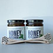 Golden Door 2-pack of Raw Peppermint Honey with Dippers