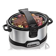 Hamilton Beach Programmable Stay or Go 6qt Slow Cooker