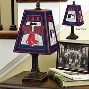 Handpainted Art Glass Team Lamp - Boston Red Sox - MLB