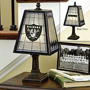 Handpainted Art Glass Team Lamp - Oakland Raiders - NFL