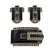 "Heidi Daus ""Dapper and Debonair"" Earrings and Pin Set"