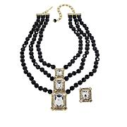 "Heidi Daus ""Estate Splendor"" Beaded Necklace and Earring Set"