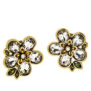 "Heidi Daus ""Flower Show"" Crystal Stud Earrings"