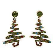 "Heidi Daus ""Oh Christmas Tree"" Crystal Drop Earrings"