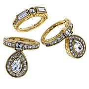 "Heidi Daus ""Rings of Royalty"" 3-piece Crystal Ring Set"