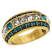 "Heidi Daus ""Tantalizing Trio"" Crystal Band Ring"