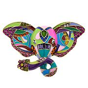 "Heidi Daus ""Unforgettable Expression"" Enamel and Crystal Elephant Pin"