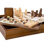 Hey! Play! 7-in-1 Classic Combo Game - Chess-Checkers-Cribbage   More