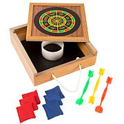 Hey! Play! Tabletop Bean Bag Toss   Magnetic Dart Game Set