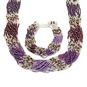 Himalayan Gems™ Multi-Strand Bead Necklace and Bracelet