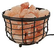 Himalayan Salt Wrought Iron Basket Lamp