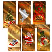 Holiday 1/10th Gram 24K Gold Aurum Collectibles 6pk