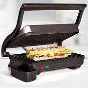Holstein Fundamentals Metallic-Finish Panini Grill