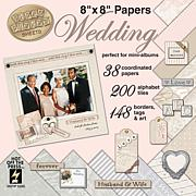 Hot Off The Press Paper Pizazz Cardstock Accent Kit - Wedding