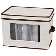 Household Essentials Canvas Flute Stemware Storage