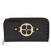 IMAN Global Chic Croco-Embossed Zip-Around Wallet