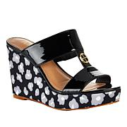 IMAN Global Chic Luxury Resort Leopard Wedge Sandal