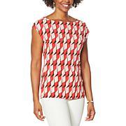 IMAN Global Chic Reversible Drape Top