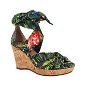 Impo Ohanna Ankle Wrap Wedge Sandal with Memory Foam