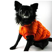 Isabella Cane Doggy Puffer Jacket Orange - Size 20