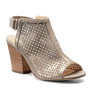 "Isola ""Lora"" Perforated Suede Shootie with Block Heel"