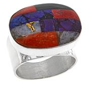 Jay King Multicolored Multigemstone Inlay Ring