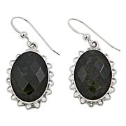 Jay King Oval Nephrite Jade Sterling Silver Drop Earrings
