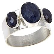 Jay King Sterling Silver Blue Moonstone 3-Stone Ring