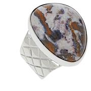 Jay King Sterling Silver Gallery Collection Indian Blanket Stone Ring