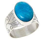 Jay King Sterling Silver Kingman Turquoise Oval Ring