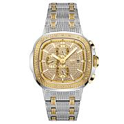 "JBW ""Heist"" Men's Two-Tone .20ctw Diamond Bracelet Watch"