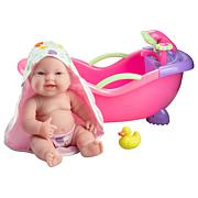 """JC Toys Lots to Love Babies 14"""" Baby Doll & Bath Shower Gift Set"""