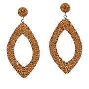 JK NY Pavé Stone Open Diamond-Shaped Drop Earrings