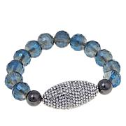 "Joan Boyce ""Edgy Chic""  Faceted Bead Stretch Bracelet"