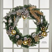 "JOY 36"" Pre-Lit Forever Fragrant® Holiday Scented Christmas Wreath"