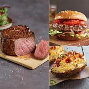 Kansas City Steaks - 12 Steakburgers, 4 Sirloins, 4 Potatoes