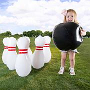 Kids Giant Bowling Game Set-Inflatable Jumbo Bowling Pins and Ball ...