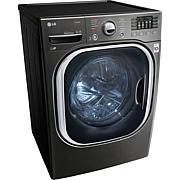 LG 4.5 Cu.Ft. Ultra Large Capacity TurboWash Washer-Black Stainless...