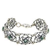 LiPaz Sterling Silver Floral Fluorite Bracelet