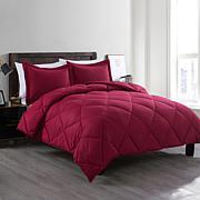 Lotus Home Bacteria Inhibiting Diamond Stitch Comforter Mini Set