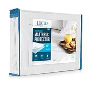 LUCID Comfort Collection Bamboo Jersey Mattress Protector - Twin