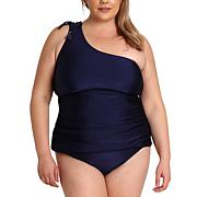 Lysa Solid One Shoulder Tankini Top