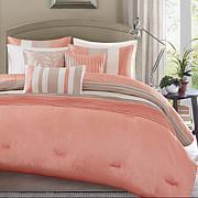 Madison Park Amherst 7pc Coral Comforter Set - Cal King
