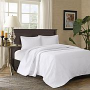Madison Park Corrine 3-pc Reversible Mini Bedspread Set, White - Queen