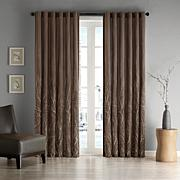 "Madison Park Eliza Window Panel - 50"" x 95"" - Chocolate"