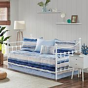 Madison Park Marina 6-Piece Reversible Daybed Cover Set - Blue