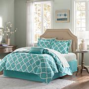Madison Park Essentials Reversible Comforter and Sheet Set -Aqua
