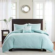 Madison Park Quebec 4-piece Seafoam 2-in-1 Duvet Set